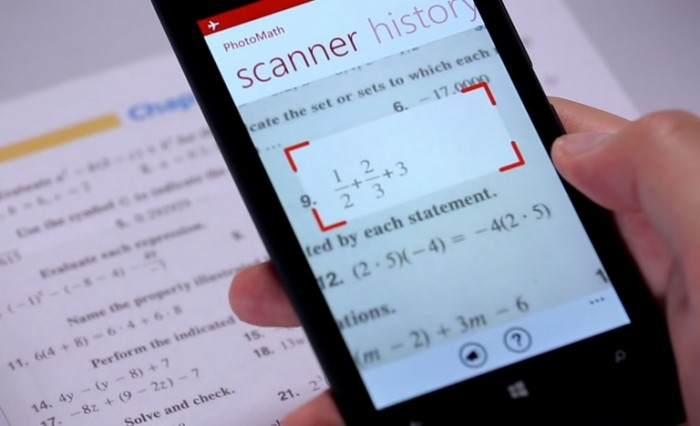 App that solves math equations